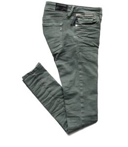Replay Luz Coin Zip Skinny-fit Jeans WCX689, Olive