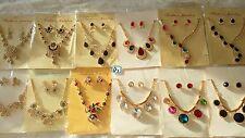 JOBLOT 12 Piezas Diamante conjuntos-Collar y pendientes Boda Graduación al por mayor d 1