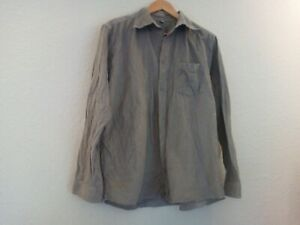 Vintage Corduroy Men's Shirt Size M Beige - In Very Good Condition