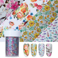 Starry Nail Foils Muti-Color Flower Holographic Nail Art Transfer Stickers Decor