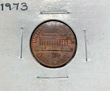 1973 Lincoln Cent - Large Rev. Detached Lamination Flake With Detached Piece BU