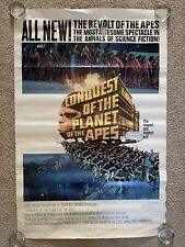 Conquest Of The Planet Of The Apes One Sheet Movie Theatre Poster - 1972