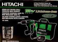 Hitachi 12V Peak Li-Ion 2-Tool Combo Kit Driver Drill and Rotary Tool NEW