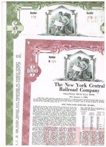 Set 2 New York Central RR, 1955,  rarer type, VF