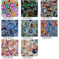 50pcs Mandala Design Handmade Glass Cabochons12mm RoundMixed Designs
