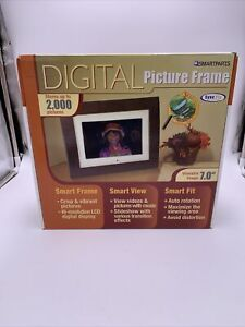 Smartparts Digital Picture Frame 7 Inch Up To 3000 Pictures Wood Look Open Box