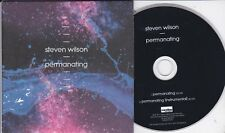 STEVEN WILSON PERMANATING - RARE 2 TRACK PROMO CD / PORCUPINE TREE