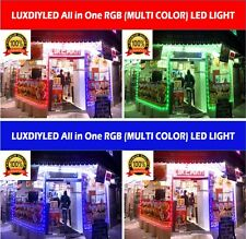 Storefront Window RGB (Multi Color) Led Lights Strips Plug N Play Kit (30ft)