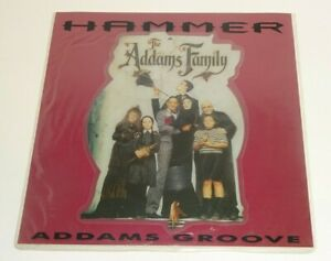 """HAMMER ADDAMS GROOVE [The Addams Family] 1991 7"""" SHAPED PICTURE DISC w/sleeve"""