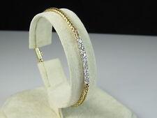 "Vintage 14K Old European Cut Diamond Bracelet 1/2ctw Estate Art Deco 7"" Fine"