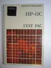 Vintage HP Stat Pac Module With Manual for 41C/CV/CX Calculators