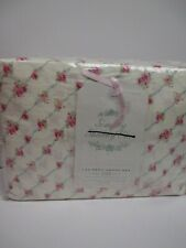 Simply Shabby Chic Ivory Pink Parlor Trellis Rose Floral Sheet Set - Cal King