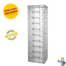 Clear Acrylic Organizer Tower 10 Drawers Cosmetic Jewelry Bead Storage Cabinet