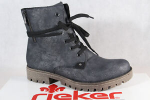 Rieker Women's Boots Ankle Boots Lace up Boots Blue/Grey 27.7oz9 New