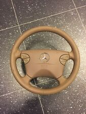 MERCEDES E CLASS W210  MULTI FUNCTION LEATHER STEERING WHEEL CREAM 2104600398
