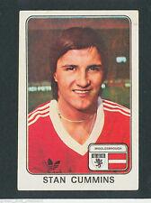 * Middlesbrough-Stan Cummins * Panini Fútbol 79 - 260 * ETIQUETA COMPLETA