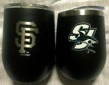 San Jose Sharks & San Francisco Giants Double Wall Stainless Steel Tumbler w/Vac