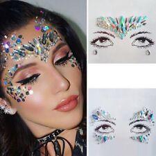 Festival Body Adhesive Glitter Stickers Tattoo Face Gems Rhinestone Jewels Party
