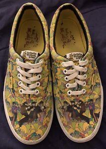 VANS Era The Beatles Yellow Submarine Cartoon Low LX Sz 8 Mens Sneaker RARE