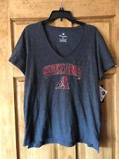 Women's Fanatics Arizona Diamondbacks Large Gray V-neck T Shirt Tee