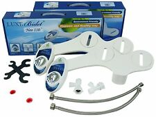 Luxe Bidet Neo 110. Toilet Attachment. Metal Hoses. Fresh Water. 2-pack.