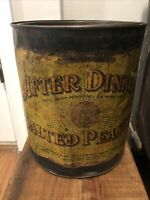 VINTAGE 10 LB BOSMAN & LOHMAN, AFTER DINNER SALTED PEANUT TIN FROM 1906