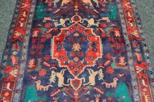 Tribal Masterpiece Tree of Life Animal Carpet Kurdish Handmade Area Rug 4'3x6'8