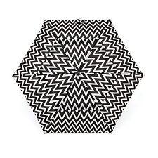 New Shed Rain Air Vent Auto Open Close Folding  Umbrella DOMINIQUE Black White