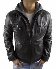 Lederjacke Herren Büffelnappaleder Echtleder Real Leatherjacket 2XL schwarz