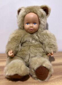 Vintage 1997 Anne Geddes Baby Bear Doll 20cm Tall EUC