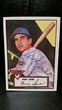 Hank Sauer Autographed Signed Topps 1952 #35 Reprint Baseball Card