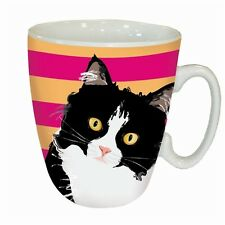 "Standard mug-waggy queues ""black & white cat"""