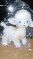Vintage The Sun Rubber Co 1955 Lamb Squeaky Toy