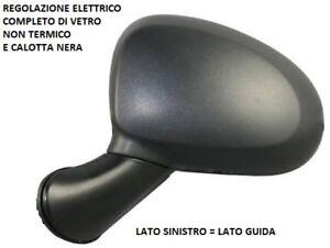 SPECCHIO RETROVISORE ELETTRICO CHEVROLET MATIZ 2005 SINISTRO 96540 CALOTTA NERA