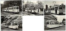 """5 Foto-AK """"80 Jahre Straßenbahn in Brandenburg"""" (Nr. 16/20) gelaufen 1979"""