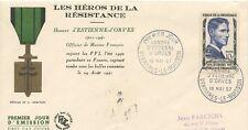 / PREMIER JOUR FRANCE / ESTIENNE D'ORVES 1957 VERRIERES LE BUISSON