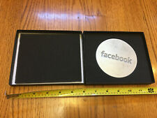 FACEBOOK logo HEAVY METAL PAPERWEIGHT Pewter NEW in BOX NIB Award Cast Face Book