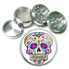 Sugar Skull Aluminum Herb Grinder D6 63mm 4 Piece Hand Mueller Day of the Dead