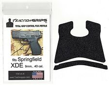 Black Rubber Tractiongrips grip tape overlay for Springfield XDE 9mm, .40 cal.