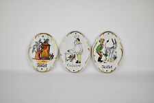 Vintage Porcelain Door Signs Kitchen Toilet / Rest Room Plaque Plates | Set of 3