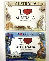 New 4x Australia Souvenir 4''x6'' Magnetic Photo Frame Australian Home Decor