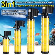 800-2000L/H Submersible Water Filter Air Internal Pump Aquarium Fish Tank