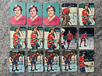 1976 & 1977 Topps Glossy Lot Of 15 Montreal Canadians Includes Ken Dryden Lafleu