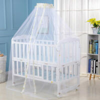 Child Bed Mosquito Net Net Toddler Crib Cot Canopy Baby Mesh Dome Curtain MA