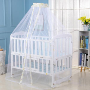 Kids Baby Cot Bed Mosquito Net Curtain Canopy Dome Mesh Nursery BT