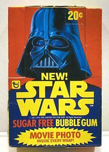 VINTAGE STAR WARS TOPPS SUGAR FREE BUBBLE GUM CARD BOX W/ Wrapper  + 9 1978
