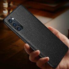 Genuine Leather Ultra Slim Protective Case Cover For Oppo Find X2 Reno 2 3 4 Pro