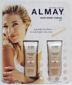 ALMAY Smart Shade Makeup LIGHT 2pcs 1oz/30ml SPF 15 Hypoallergenic NIB