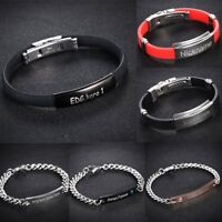 DIY Personalized Engrave Letter Name Cuff Custom Bracelets Bangle Lover Couple
