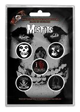 MISFITS - OFFICIAL BADGE SET BUTTON-SET Skull